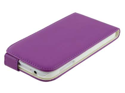 Samsung I9500 Galaxy S4 Synthetic Leather Flip Case - Purple