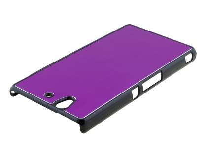 Brushed Aluminium Case for Sony Xperia Z - Light Purple/Black