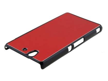 Brushed Aluminium Case for Sony Xperia Z - Red/Black