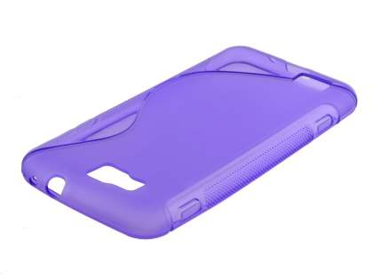 Samsung Ativ S I8750 Wave Case - Frosted Purple/Purple