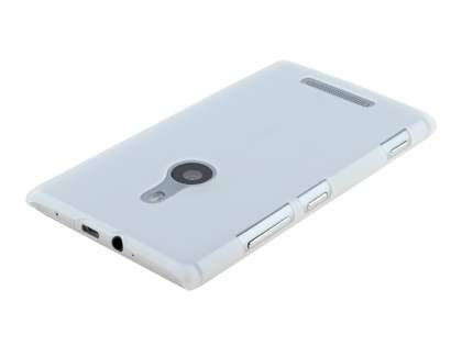 Ultra Slim Frosted Case plus Screen Protector for Nokia Lumia 925 - Frosted Clear