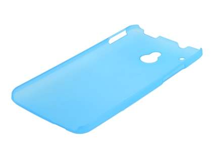 HTC One Mini Ultra Slim Frosted Case plus Screen Protector - Frosted Blue