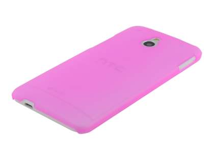 HTC One Mini Ultra Slim Frosted Case plus Screen Protector - Frosted Pink