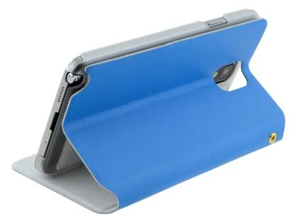 Samsung Galaxy Note 3 Slim Genuine Leather Portfolio Case - Blue