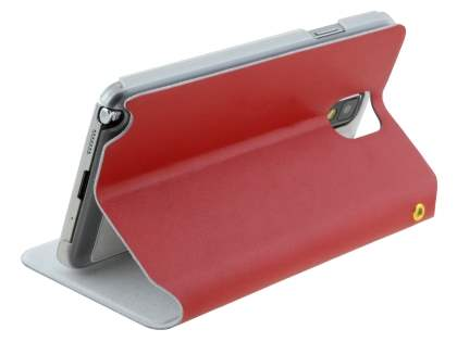 Samsung Galaxy Note 3 Slim Genuine Leather Portfolio Case - Red