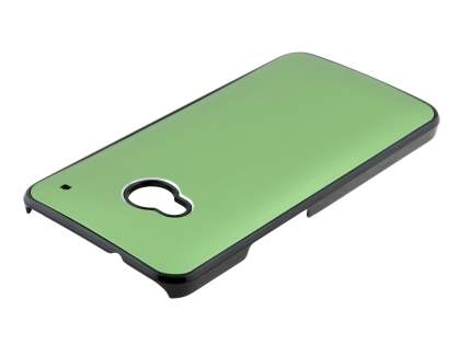 Brushed Aluminium Case for HTC One M7 - Green/Black