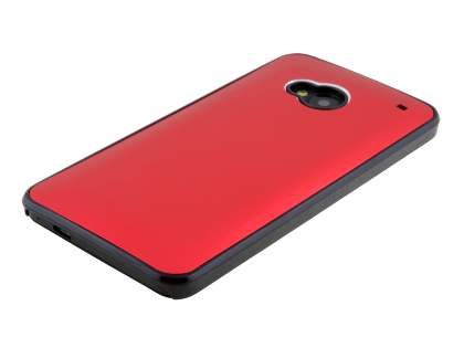Brushed Aluminium Case for HTC One M7 - Red/Black