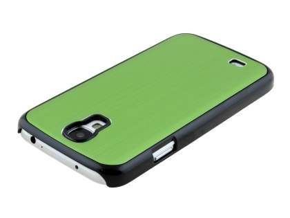 Brushed Aluminium Case for Samsung Galaxy S4 I9500 - Green/Black