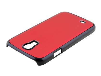 Brushed Aluminium Case for Samsung Galaxy S4 I9500 - Red/Black
