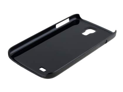 Brushed Aluminium Case for Samsung Galaxy S4 I9500 - Classic Black