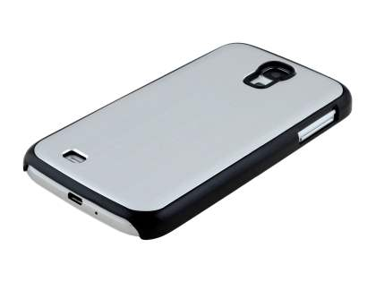 Brushed Aluminium Case for Samsung Galaxy S4 I9500 - Silver/Black