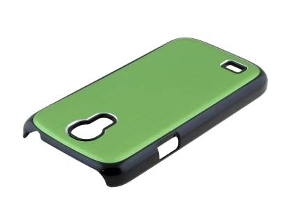 Brushed Aluminium Case for Samsung Galaxy S4 mini - Green/Black