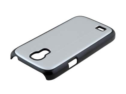 Brushed Aluminium Case for Samsung Galaxy S4 mini - Silver/Black