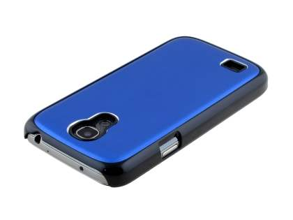 Brushed Aluminium Case for Samsung Galaxy S4 mini - Navy Blue/Black