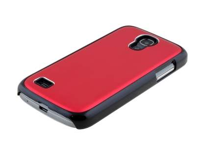 Brushed Aluminium Case for Samsung Galaxy S4 mini - Red/Black