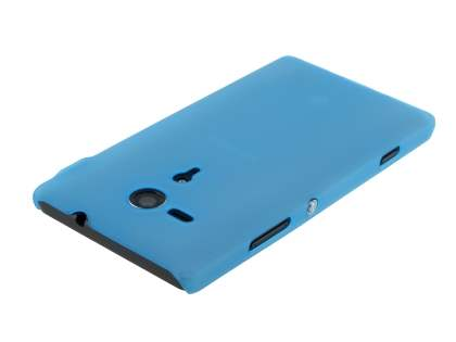 Sony Xperia SP M35 Ultra Slim Frosted Case plus Screen Protector - Frosted Blue