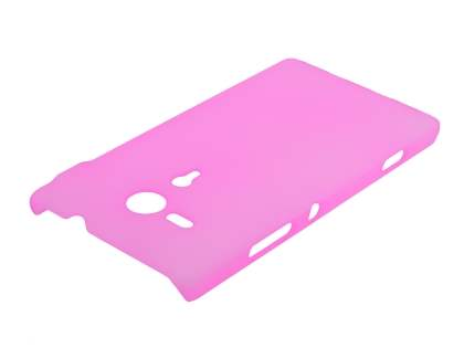 Sony Xperia SP M35 Ultra Slim Frosted Case plus Screen Protector - Frosted Pink