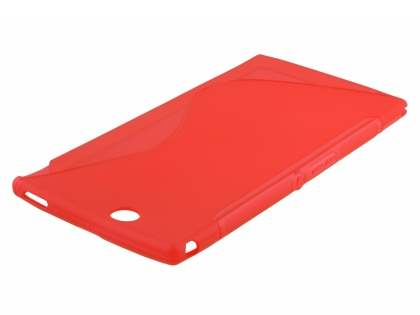 Sony Xperia Z Ultra Wave Case - Frosted Red/Red