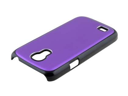 Brushed Aluminium Case for Samsung Galaxy S4 mini - Purple/Black