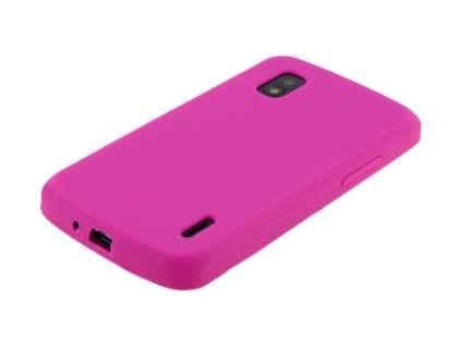 Silicone Case for LG Nexus 4 E960 - Pink