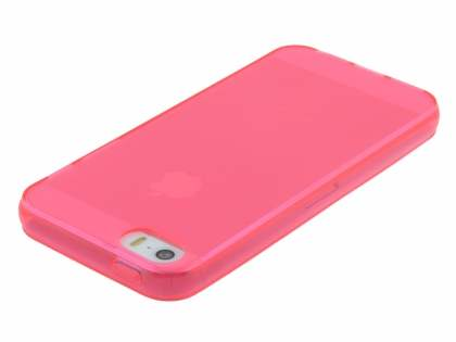 Apple iPhone SE/5s/5 Frosted TPU Gel Case - Frosted Coral