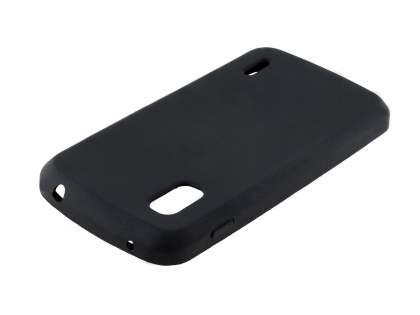 Silicone Case for LG Nexus 4 E960 - Classic Black