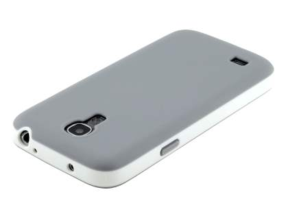 Samsung Galaxy S4 mini I9195 Colour TPU Case - Light Grey/White