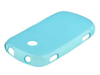 Frosted TPU Case for Samsung Galaxy Music S6010 - Sky Blue Soft Cover