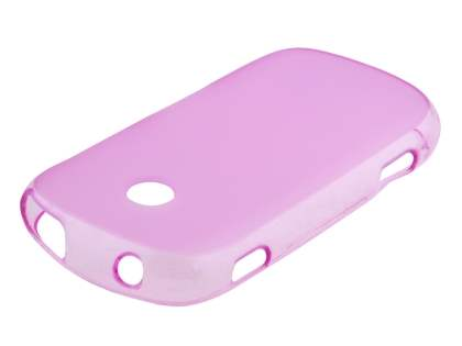 Frosted TPU Case for Samsung Galaxy Music S6010 - Pink Soft Cover
