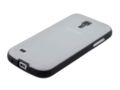 Samsung Galaxy S4 mini I9195 Colour TPU Case - Frosted Clear/Black