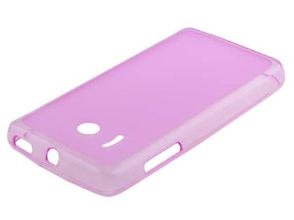 Frosted TPU Case for Huawei Ascend Y300 - Frosted Pink