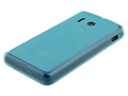 Frosted TPU Case for Huawei Ascend Y300 - Frosted Blue