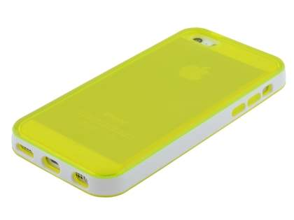 Apple iPhone 5c Transparent TPU Gel Case - Yellow/White