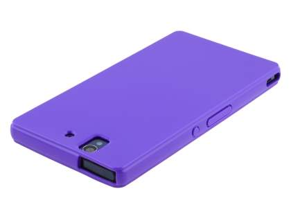 Sony Xperia Z Colour TPU Gel Case - Purple