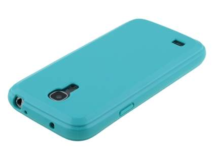 Colour TPU Gel Case for Samsung I9195 Galaxy S4 mini - Aqua