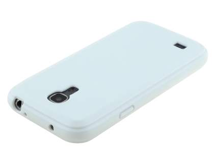Colour TPU Gel Case for Samsung I9195 Galaxy S4 mini - Pearl White