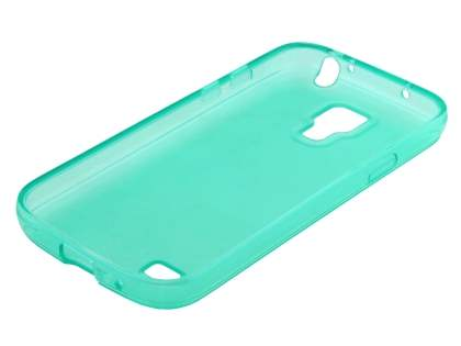 Samsung I9195 Galaxy S4 mini Frosted TPU Case - Frosted Aqua