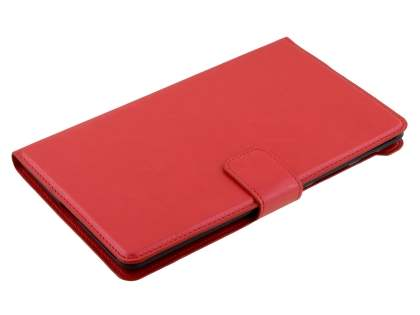 Synthetic Leather Wallet Case with Stand for Asus Google Nexus 7 2013 - Red