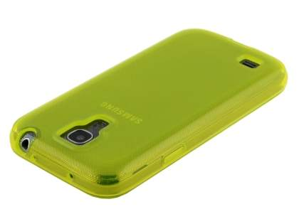 Frosted TPU Case for Samsung I9195 Galaxy S4 mini - Frosted Yellow