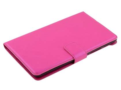 Synthetic Leather Wallet Case with Stand for Asus Google Nexus 7 2013 - Hot Pink