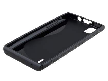 Huawei Ascend P2 Wave Case - Frosted Black/Black