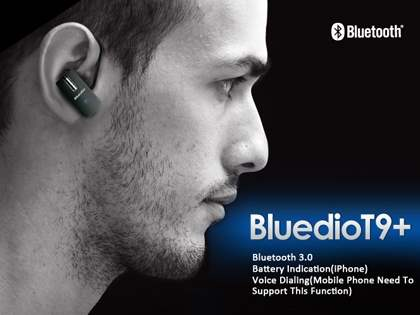 Bluedio T9+ Bluetooth Mono Headset for Samsung - Classic Black