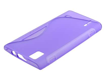 Wave Case for Huawei Ascend P2 - Frosted Purple/Purple Soft Cover