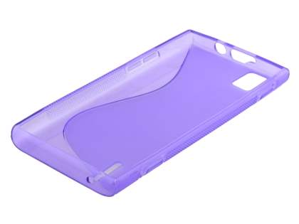 Wave Case for Huawei Ascend P2 - Frosted Purple/Purple
