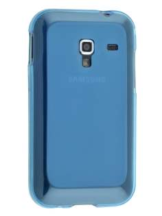 Frosted TPU Case for Samsung Galaxy Ace Plus S7500 - Sky Blue Soft Cover