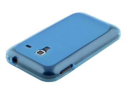Samsung Galaxy Ace Plus S7500 Frosted TPU Case - Sky Blue