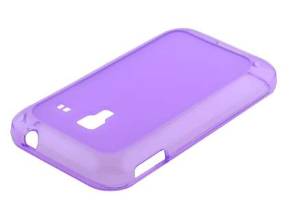 Samsung Galaxy Ace Plus S7500 Frosted TPU Case - Purple