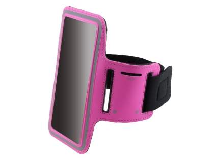 Universal Sports Arm Band for Samsung Galaxy Note 3 - Hot Pink
