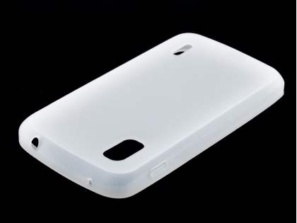 Silicone Case for LG Nexus 4 E960 - Frosted Clear
