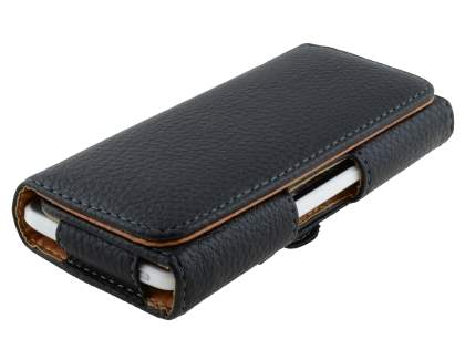 HTC ONE Mini M4 Synthetic Leather Belt Pouch - Classic Black